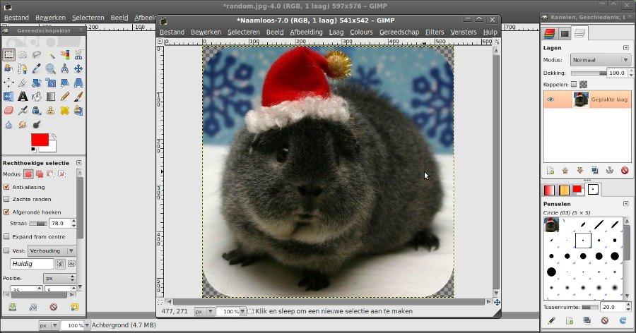 GIMP Tutorial   Een afbeelding met ronde hoeken in GIMP